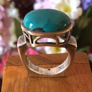 R0786 Silpada Sterling Silver and Turquoise Ring